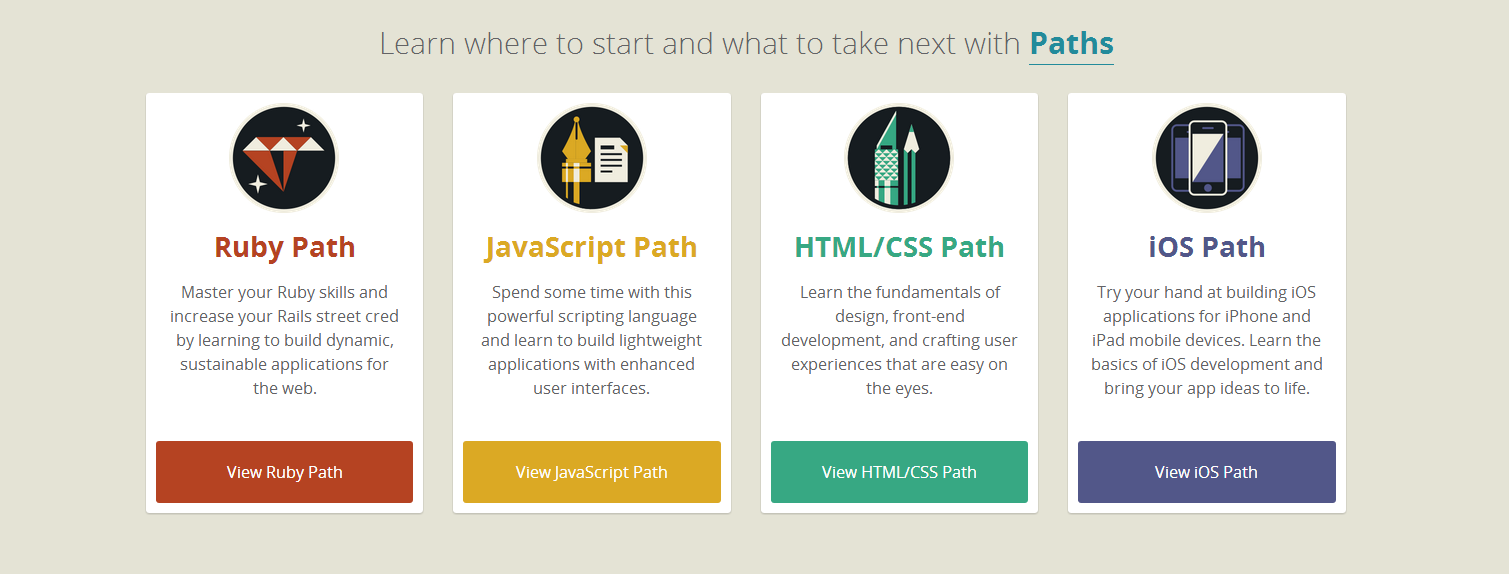 Codeschool paths