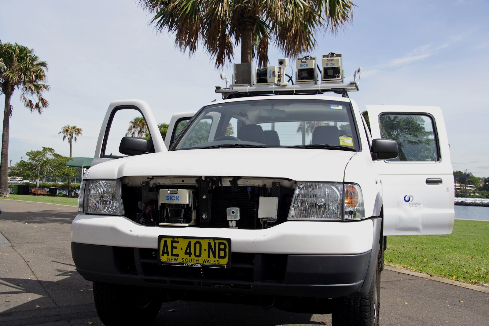 CRUISE vehicle with SICK sensors for autonomous vehicle research