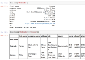 .loc is used by pandas for label based lookups in dataframes